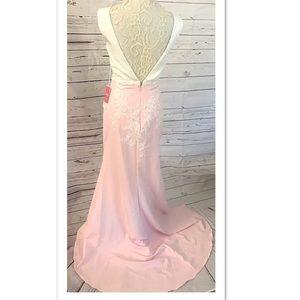 JJs House Dresses - JJs House Sequined Open Back Wedding Prom Formal